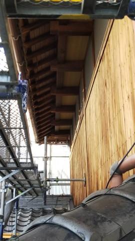 八尾弓削 自然素材リフォーム 外壁洗い02