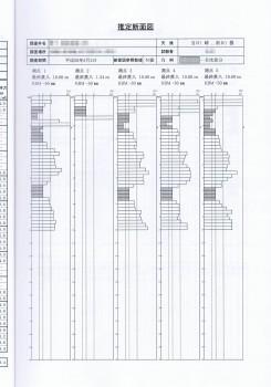 地盤調査推定断面図
