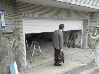 大阪 交野 自然素材健康住宅の耐震リフォーム ガレージシャッター取替01