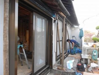 大阪 交野 自然素材健康住宅の耐震リフォーム 電動シャッター取付02