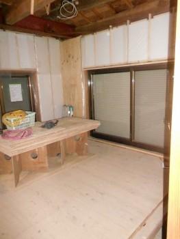 大阪 交野 自然素材健康住宅の耐震リフォーム 壁断熱材完了01