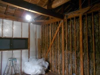 大阪 交野 自然素材健康住宅の耐震リフォーム 2階電気工事開始02