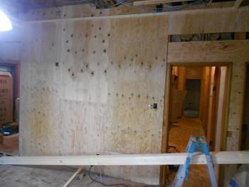 大阪 交野 自然素材健康住宅の耐震リフォーム 耐震補強合板貼02