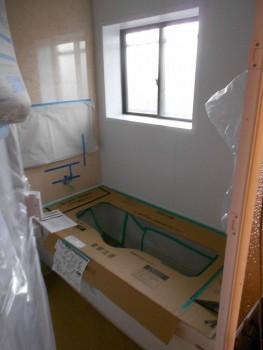 大阪 交野 自然素材健康住宅の耐震リフォーム ユニットバス施工02