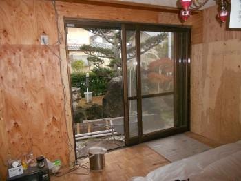 大阪 交野 自然素材健康住宅の耐震リフォーム 耐震補強合板貼03