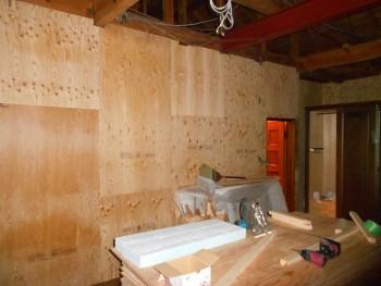 大阪 交野 自然素材健康住宅の耐震リフォーム 耐震補強合板貼01