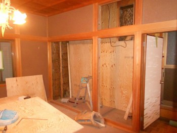 大阪 交野 自然素材健康住宅の耐震リフォーム 2階和室耐震補強01