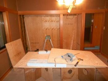 大阪 交野 自然素材健康住宅の耐震リフォーム 2階和室耐震補強02