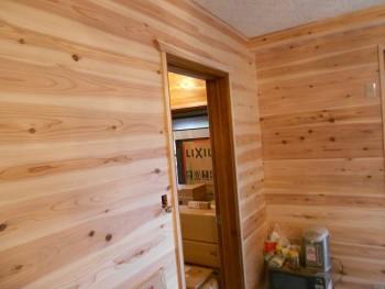 【壁杉板貼り】大阪 交野 自然素材健康住宅の耐震リフォーム01