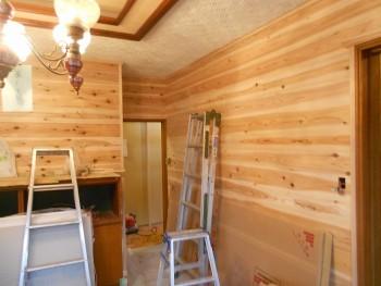 【壁杉板貼り】大阪 交野 自然素材健康住宅の耐震リフォーム02