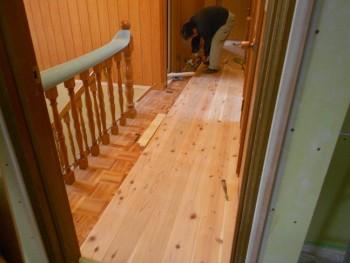 【廊下床杉板貼り】大阪 交野 自然素材健康住宅の耐震リフォーム