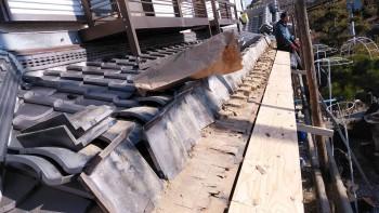 軒先の下地やり替え 大阪 交野 自然素材健康住宅の耐震リフォーム02