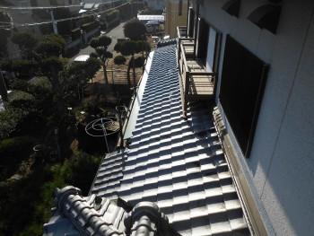 軒先のガルバリウムへのやり替え 大阪 交野 自然素材健康住宅の耐震リフォーム02
