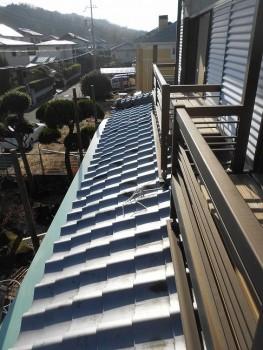 軒先のガルバリウムへのやり替え 大阪 交野 自然素材健康住宅の耐震リフォーム03