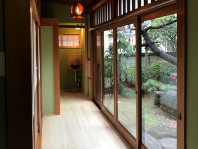八尾弓削 T様邸 自然素材リフォーム after 廊下。