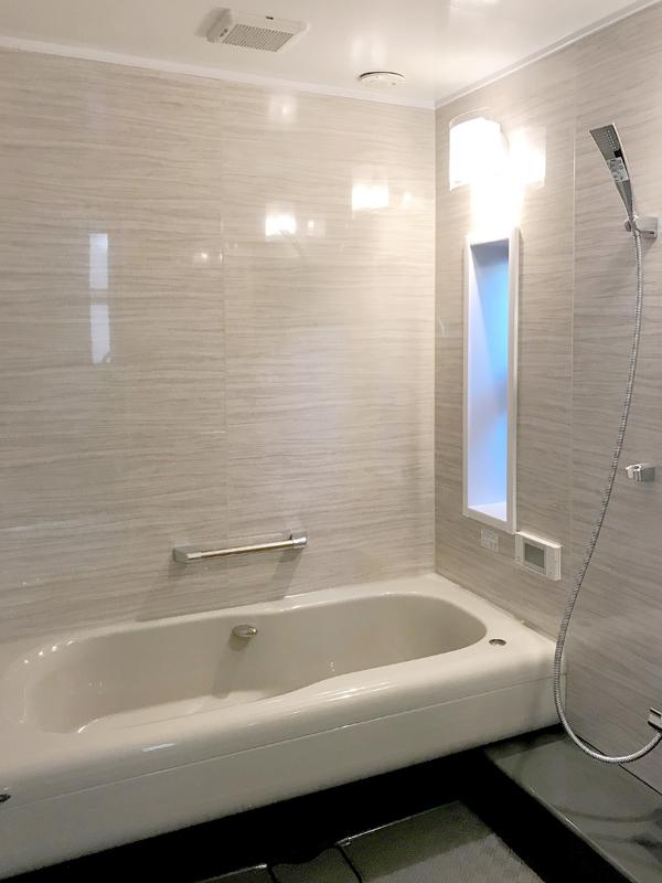 八尾弓削 T様邸 自然素材リフォーム after 浴室。