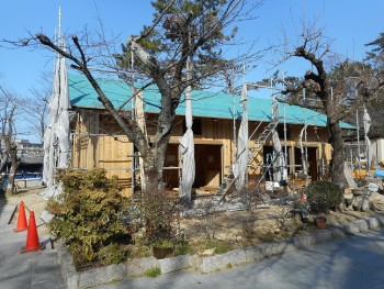【屋根~外壁】服部緑地「板倉造り」事務所棟移築 屋根防水ルーフィング01