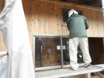【仕上~外構】服部緑地「板倉造り」事務所棟移築 外壁仕上げ02