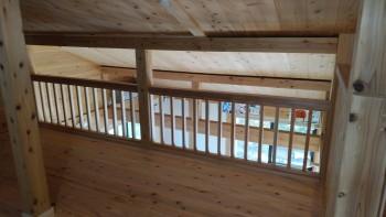 和歌山市内原 板倉造りの家 ロフト増設床貼・手すり取付01