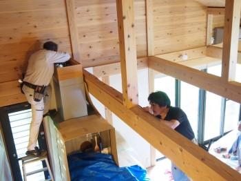和歌山市内原 板倉造りの家 ロフト増設小梁取付05