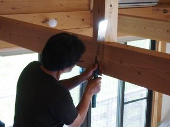 和歌山市内原 板倉造りの家 ロフト増設小梁取付06
