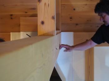 和歌山市内原 板倉造りの家 ロフト増設小梁取付09