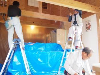 和歌山市内原 板倉造りの家 ロフト増設小梁取付03
