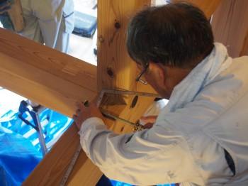 和歌山市内原 板倉造りの家 ロフト増設小梁取付08