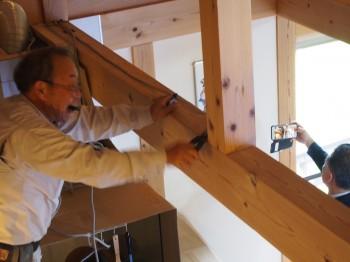 和歌山市内原 板倉造りの家 ロフト増設小梁取付07