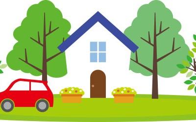 自動車と家