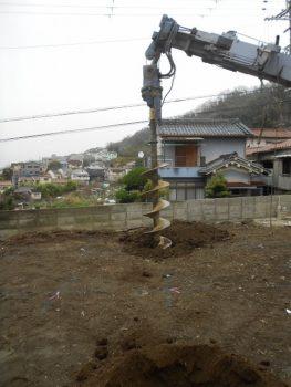 東大阪客坊 大阪平野を一望する家 地盤改良01