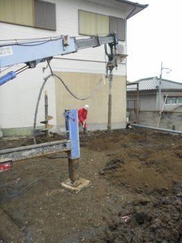 東大阪客坊 大阪平野を一望する家 地盤改良04