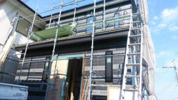 東大阪客坊 大阪平野を一望する家 外壁ラス下地