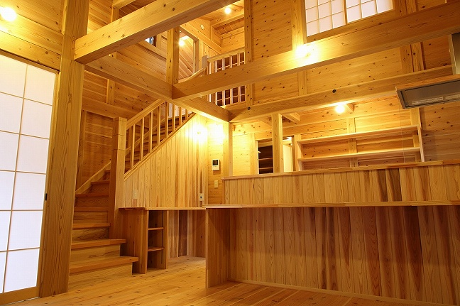 板倉造りの家